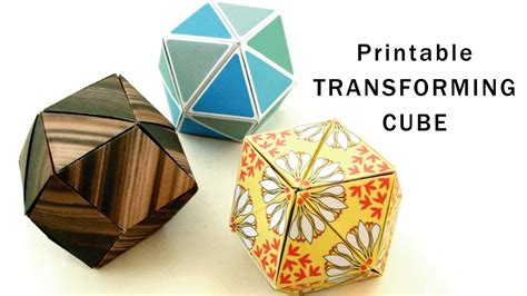 Print Out Origami - printable origami transforming cubes