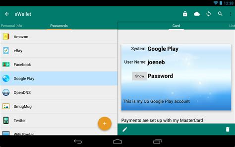 password manager android ewallet password manager android apps on play