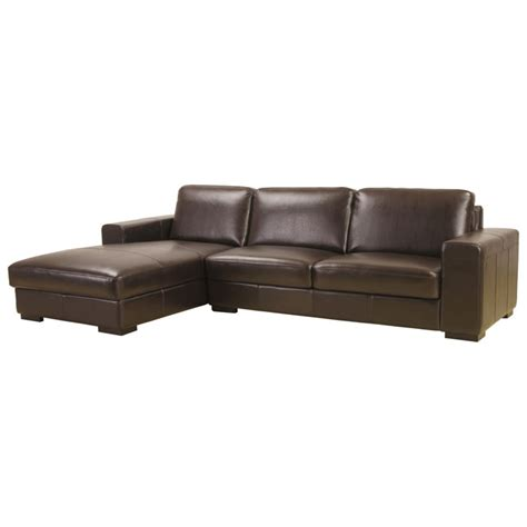 susanna brown leather large sectional with chaise
