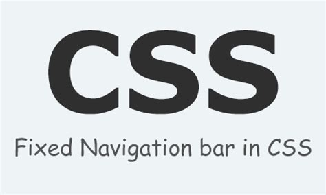 Html Fixed Top Bar by Fixed Navigation Bar In Css Html
