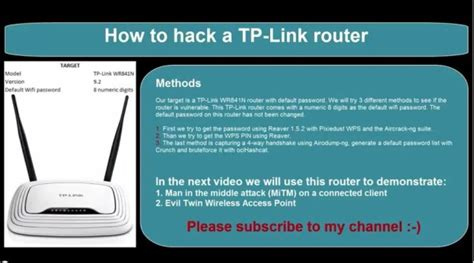 tutorial hack router how to hack a tp link wr841n router wireless network