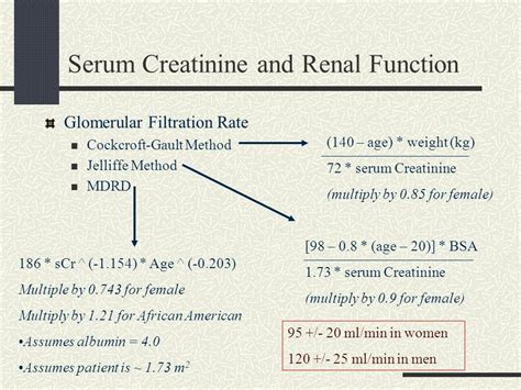creatinine 8 9 mg l acute renal failure for the intern ppt