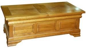 table basse avec coffre bar ch 234 ne ou merisier massif
