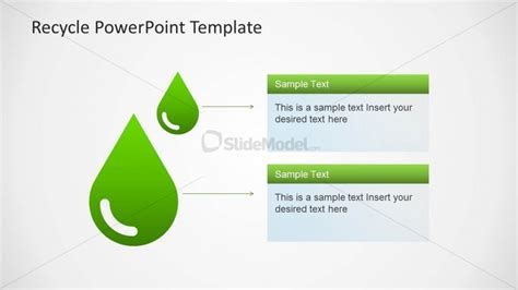 waste management powerpoint template water drop clipart for powerpoint slidemodel