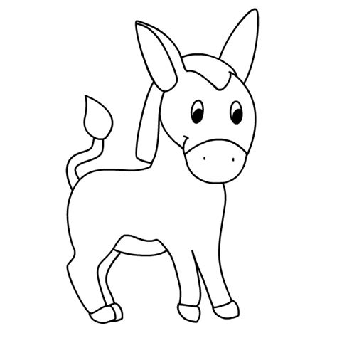 free donkey face coloring pages