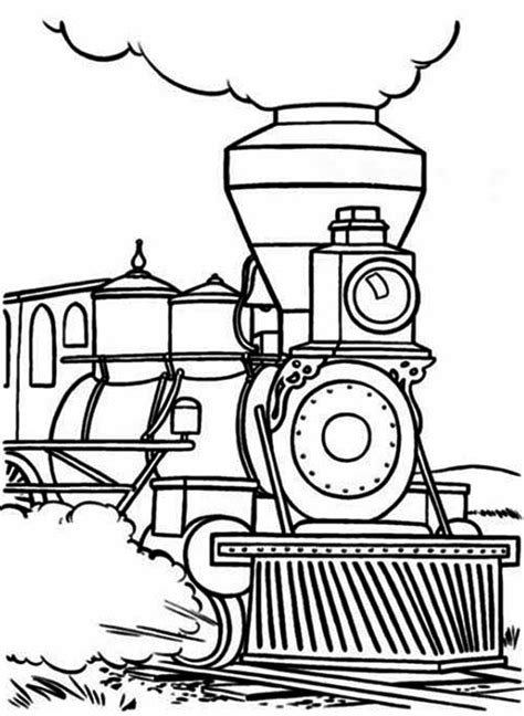 polar express steam engine pages coloring pages