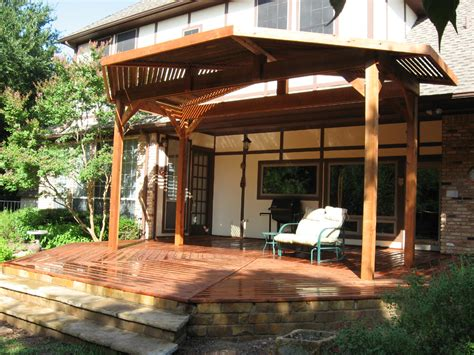 Patio Deck Cover by Redwood Deck With Patio Cover