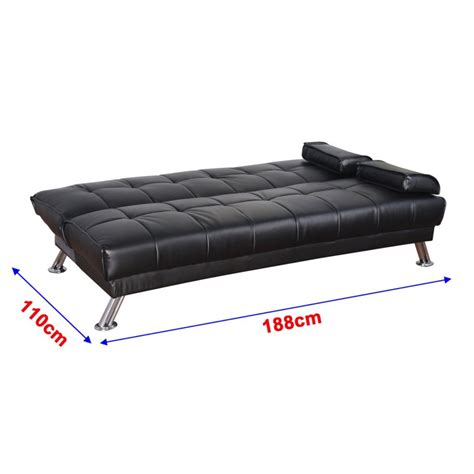 sofa plegable sofa cama silla 188x105x85cm plegable 2 en 1 cuero