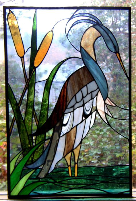 stained glass pattern blue heron stained glass blue heron combines the lake house