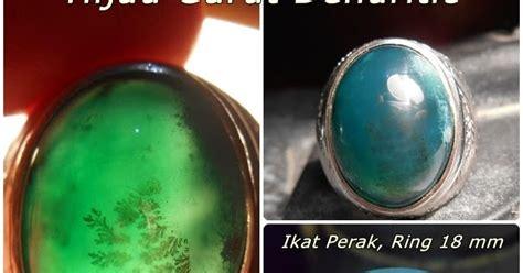 Batu Akik Dendritic Motif koleksi batu antik ag264 sold batu hijau garut motif