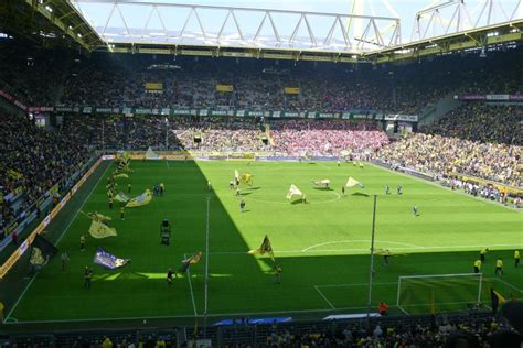 signal iduna park away section signal iduna park dortmund the stadium guide