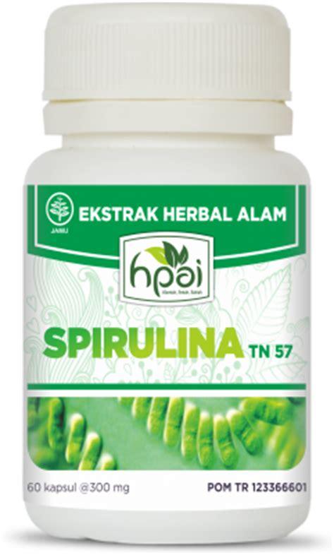 Vitamin Untuk Daya Tahan Tubuh Asli Spirulina Gold 60kps spirulina hpai suplemen kesehatan meningkatkan daya tahan tubuh hpai hni produk herbal untuk