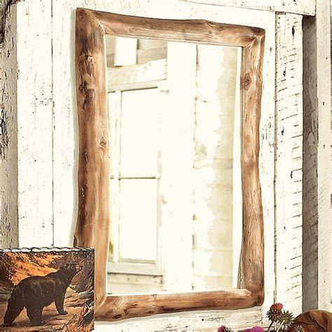 Aspen Log Medicine Cabinet & Mirror