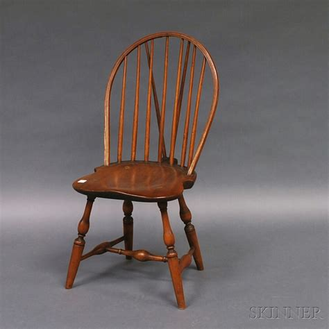 braced bow back chair bow back brace back side chair bidsquare