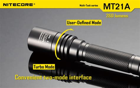 Nitecore Mt21a Senter Led Cree Xp E2 260 Lumens nitecore mt21a senter led cree xp e2 260 lumens black
