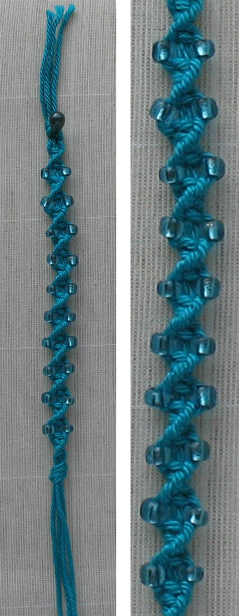 Twisted Macrame Bracelet - macrame twisted chain with photo tutorial crafting