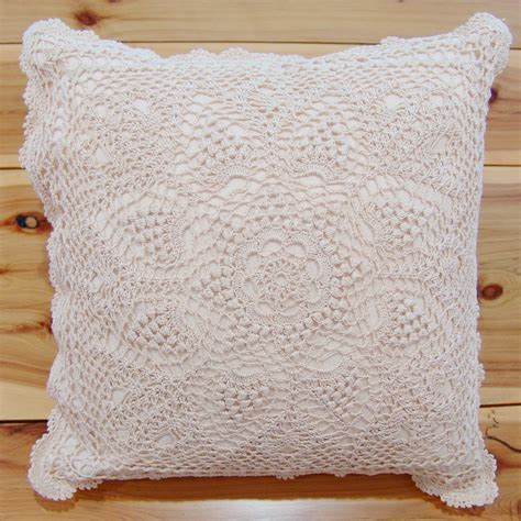 Pillow Covers by Crochet Lace Cushion Cover Throw Pillow Cover Table
