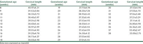 Normal Length by Normal Cervix Size Gallery