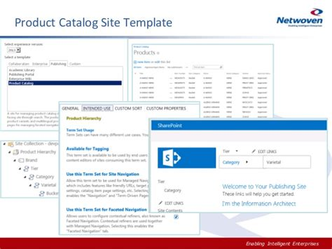 sharepoint 2013 product catalog site template introduction to sharepoint 2013 wcm dm ecm for business