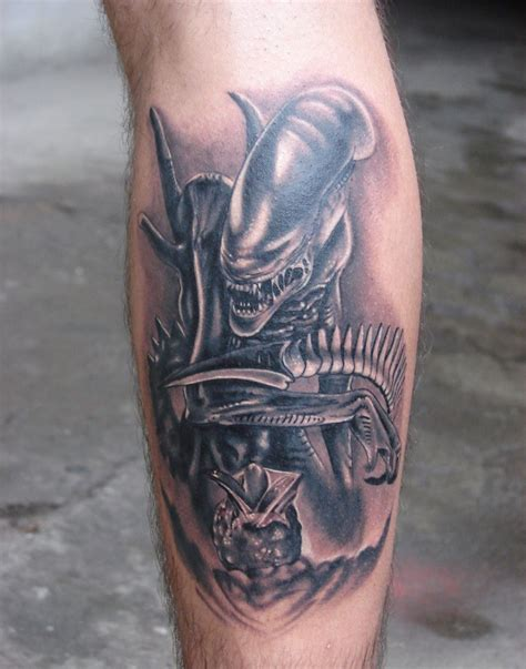 guy leg tattoos evil leg designs for
