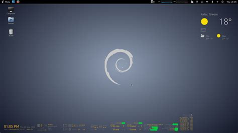 conky manager themes kali linux εγκατασταση conky manager στο debian themes gold grey