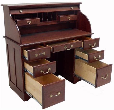 roll top office desk 48 quot w solid cherry roll top desk