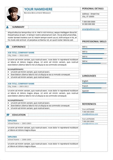 Editable Resume Template gastown2 free professional resume template