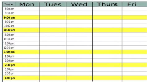 9 Best Images Of Printable Blank Weekly Time Slots Calendar Weekly With Time Slots Blank Free Monday Through Friday Calendar Template