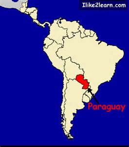 paraguay map south america paraguay map