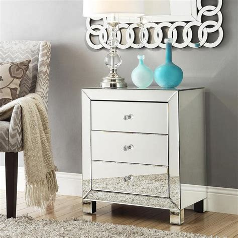 Mirrored Nightstand Sales by Mirror Tables Mirrored Nightstands On Sale Mirrored