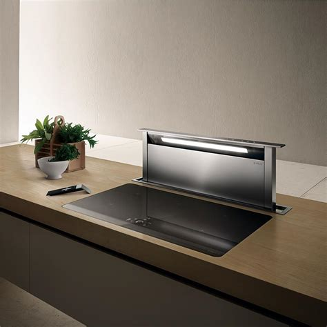 hotte de cuisine sans 騅acuation elica hotte escamotable adagio pour plan de travail