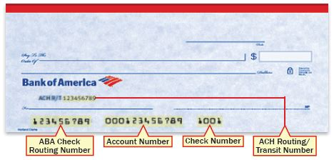 routing number bank of america bank of america routing number