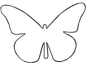Butterfly Outline Printable by Outline Butterfly Template D