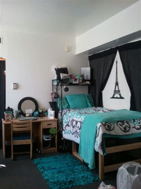 college room color schemes blue green and black make for a modern and