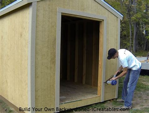 How To Build A Shed Door by Shed Trim How To Install Shed Trim Icreatables