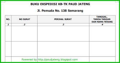 contoh format buku ekspedisi lembaga paud wikiedukasi paud