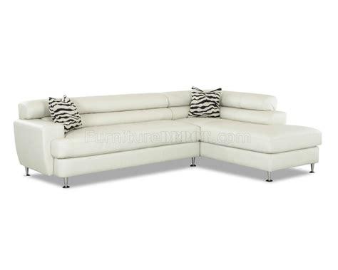 modern sofa chrome legs white leather modern sectional sofa w chrome legs