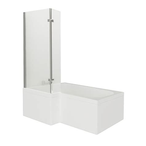 Square Shower Bath victorian plumbing 1700mm square shower bath with hinged screen