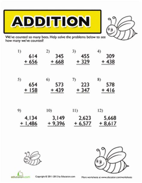 4th Grade Addition Worksheets