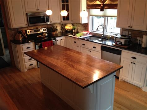 kitchen island with wood top crafted solid walnut kitchen island top by custom