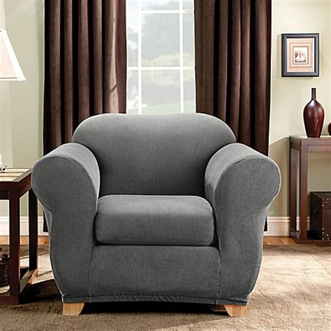 madison slipcovers sure fit 174 madison stripe chair slipcover bed bath beyond
