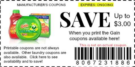 printable gain coupons gain coupons manufacturer coupons