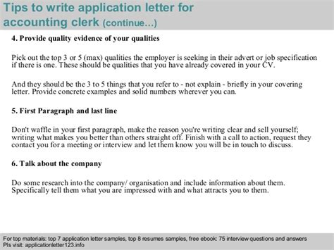 application letter for accounting clerk accounting clerk application letter