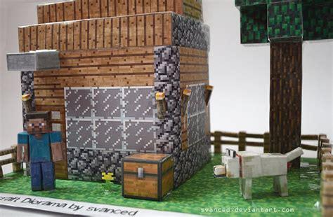 Papercraft Diorama - minecraft diorama by svanced 3 by svanced on deviantart