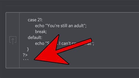 discord java markdown inline html phpsourcecode net