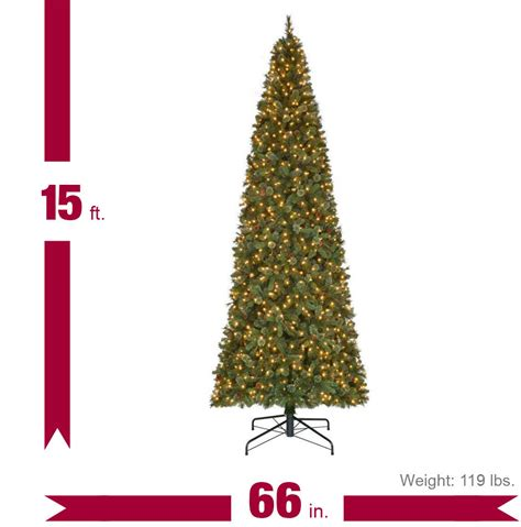 15 ft pre lit led alexander fir artificial christmas tree