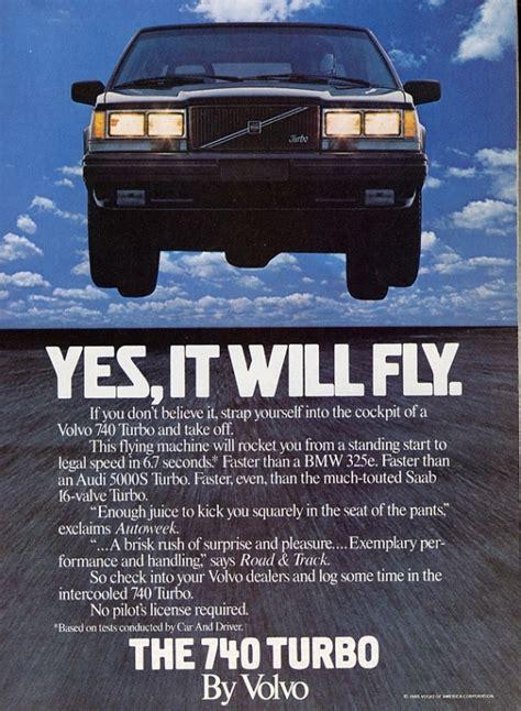 foto volvo vintage reclame ad volvo  turbo sedan road  autoblognl