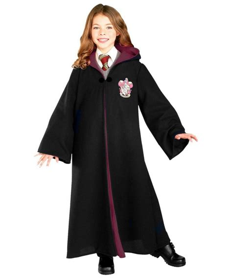 themes in black robe kids gryffindor robe girls costumes