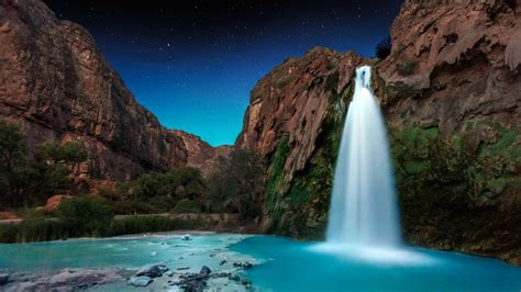 havasu falls  night arizona hd wallpaper wallpaper
