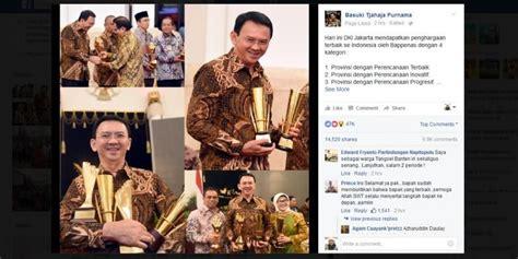 ahok mendapat penghargaan kaleidoskop pemerintahan jokowi ahok dan djarot kompas com